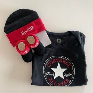All star converse baby onesie